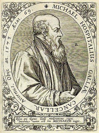 Michel de l'Hôpital - Frontispiece depicting Michel de l'Hôpital.