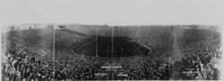Formal dedication of the new Michigan Stadium, October 22, 1927, against Ohio State University