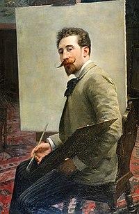 Mieczysław Reyzner - Autoportret z paletą 1890.jpg