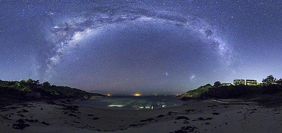 Milky way panorama at fishermans bay.jpg
