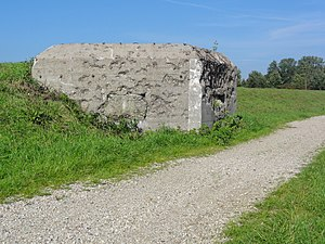 Netherlands in World War II - A bunker of the Peel-Raam Line, built in 1939.