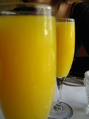mimosa - champagne and orange juice cocktail