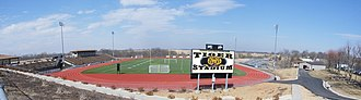 Mineral Water Bowl - Tiger Stadium at the new Excelsior Springs High School on the edge of Excelsior Springs