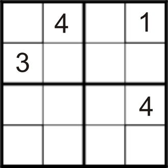 Generalized game - Sudoku (4×4)
