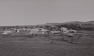 Mintaro, South Australia - A panoramic view of the town of Mintaro in 1880