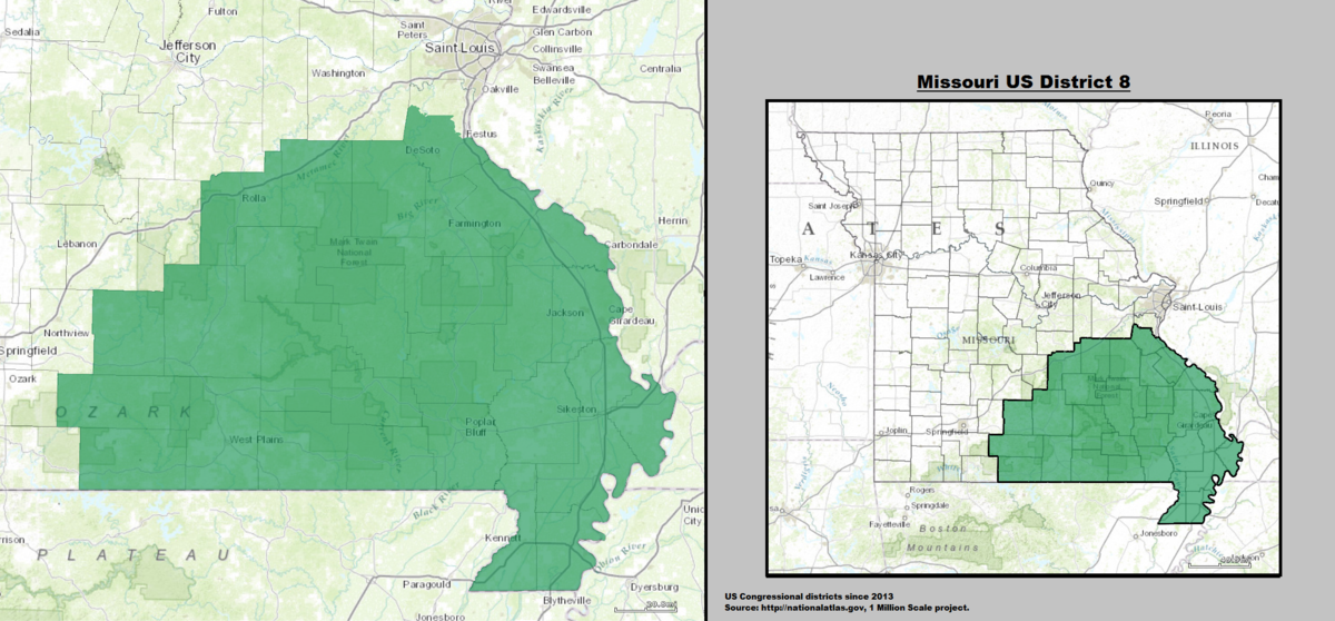 Missouris Th Congressional District Wikipedia - Us senate district map