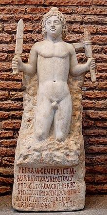 Psicologia dei simboli del natale - Pagina 2 220px-Mithras_petra_genetrix_Terme