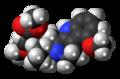 Mitragynine molecule spacefill.png