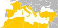 Akdeniz kıyısındaki ülkeler