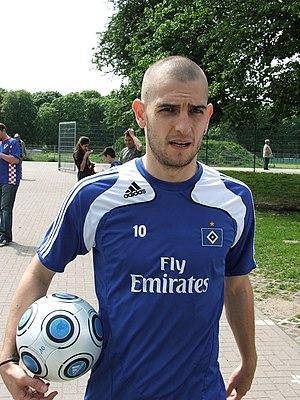 Mladen Petrić - Petrić at practice with Hamburg in 2009
