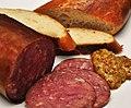 Mmm... venison sausage (4961908196).jpg