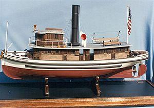 Tuff-E-Nuff (tugboat) - Image: Model port side of Thomas Cunningham Sr