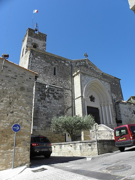Église Saint-Étienne de Montferrier-sur-Lez (34). Vue méridionale.