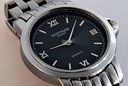 A quartz wrist watch