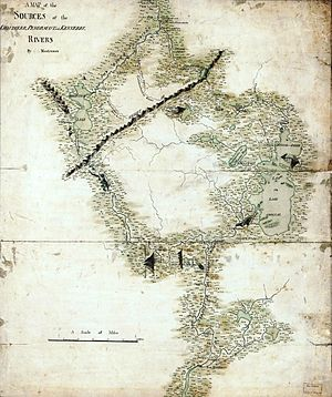 Benedict Arnold's expedition to Quebec - Image: Montresor Chaudiere Map 1760