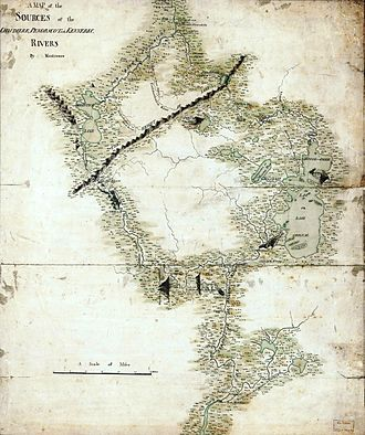 John Montresor - A map prepared by Montresor circa 1760, showing the headwaters of the Kennebec, Penobscot, and Chaudière Rivers. It was used by Benedict Arnold for his 1775 expedition to Quebec.