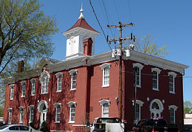 Moore County Courthouse in Lynchburg Tennessee 4-8-2010.jpg