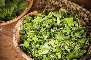 Leaf vegetable - Liponda greens to be cooked and accompany ugali in east Africa