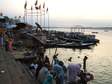 Morning at Varanasi ghats.JPG