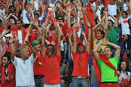 Moroccan football fans Morocco vs Algeria, June 04 2011-10.jpg