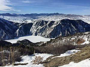 Curecanti National Recreation Area - Morrow Point Reservoir in winter.