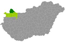 magyarország térkép mosonmagyaróvár Mosonmagyaróvár District   Wikipedia magyarország térkép mosonmagyaróvár