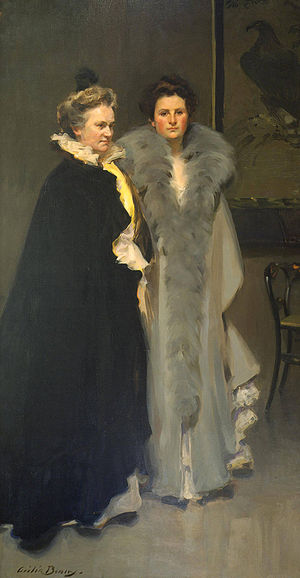 Clement Griscom - Image: Mother and Daughter Cecilia Beaux 1898 PAFA