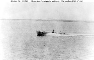 Motorboat Dreadnought underway.jpg