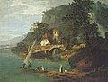 Moulins de Rivaz, par Jean-Antoine Linck, huile sur toile, fin XVIIIIe siècle.jpg