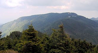 Mount Mitchell - Mount Mitchell, viewed from Mount Craig