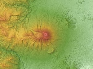 Mount Iwate - Relief Map