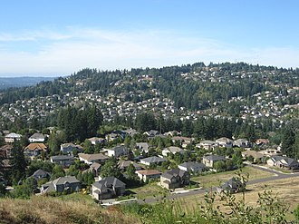 Happy Valley, Oregon - Happy Valley, on the southeast flank of Mount Scott