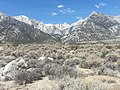 Mount Whitney from highway 395 at Alabama hills near Bishop California looking west northwest- 2014-04-13 14-00.jpg