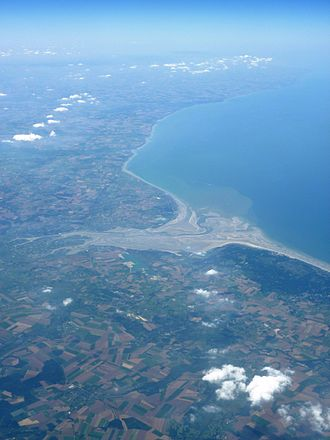 Somme (river) - The mouth of the Somme in the English Channel