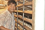 Mr. Thuong at his duck egg hatchery in Can Tho (14239816841).jpg