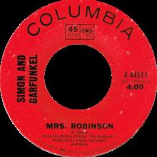 Mrs Robinson door Simon en Garfunkel US vinyl (The Graduate credit) .png