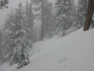 Mount Waterman - Mt. Waterman in March, 2000