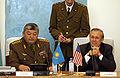 Mukhtar Altynbayev with Donald Rumsfeld, 040225-F-6655M-376.jpg