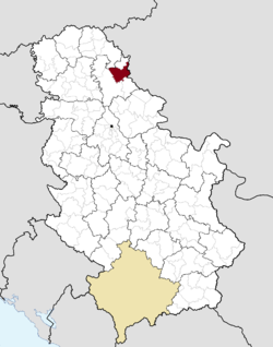 Location of Žitište within Serbia