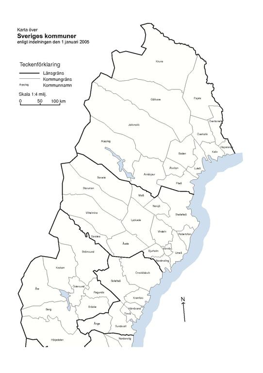 File Municipality Borders Of Sweden With Names And Codes From Scb