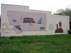 Huntley, Montana - Mural in Huntley