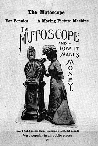 Mutoscope - An 1899 trade advertisement