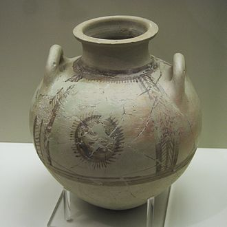Minyan ware - Minyan amphora from Mycenae, Middle Helladic III period, 1700–1600 BC.