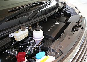 Nissan VQ engine - The VQ25DE engine installed in a 2007 Nissan Elgrand