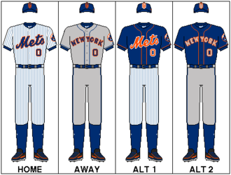Logos and uniforms of the New York Mets - Current Mets uniforms