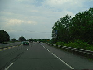 New York State Route 96 - Approaching NY 14 on NY 96 south