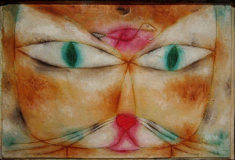 File:NY Moma klee cat and bird.JPG