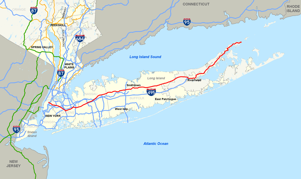 New York State Route Wikipedia - Us representative long island map