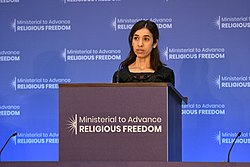 Nadia Murad ahuman rights activist and survivor, delivers remarks (42733243785).jpg