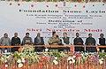 Narendra Modi at the Foundation Stone Laying Ceremony of the Srinagar-Leh power transmission line, at Leh. The Governor of Jammu and Kashmir, Shri N.N. Vohra, the Chief Minister of Jammu and Kashmir, Shri Omar Abdullah.jpg